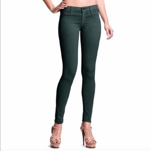 Mother Looker emerald green jeans